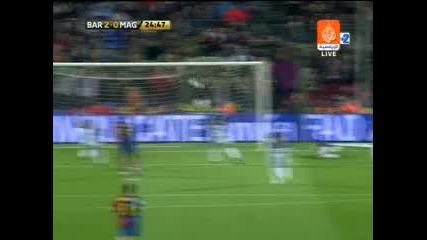 22.03 Изумителен гол на Лео Меси ! Барселона - малага 6:0