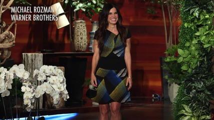Sandra Bullock Appears on Ellen; Admits She Cried on Mother's Day