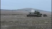 """Стрелба със С А У 122мм """" Gvozdika """" на полигона в Казанлък"""