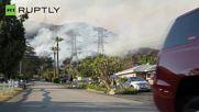 Huge Wildfires Blaze Through San Gabriel Mountains Just Outside LA