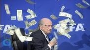 Prankster Showers FIFA President Sepp Blatter With Fake Cash