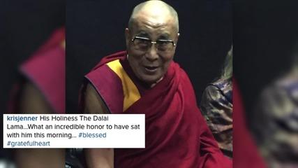 Kris Jenner and Melanie Griffith Meet the Dalai Lama