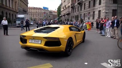The Start of the Lamborghini 50th Anniversary Grand Giro Tour
