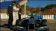 Представянето на Mercedes Amg W04 2013г. [hd]