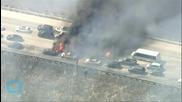 California Fire That Jumped Interstate 15 Calms Overnight
