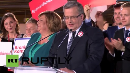 Poland: Polish President Komorowski runner-up in first round of elections - exit poll