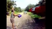 Началото на жътвата в Бела Рада 04. 07. 2009г.