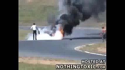 Мотор Се Запалва След Луда Катастрофа