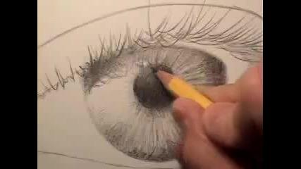 Как се рисува реалистично око