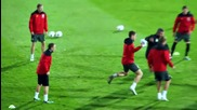 Уелс тренира на националния стадион