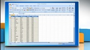 Microsoft® Excel 2007: How to create a Pivot Table or Chart report on Windows® 7?