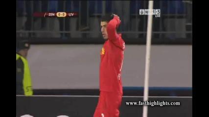 Зенит - Ливърпул 2:0 ( Лига Европа, 1/16 финал (15-02-2013)