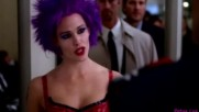 Alias - Syd in action purple hair. / Сид в действие.