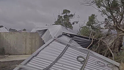 Australia: Cyclone Seroja tears through property in Gabbin