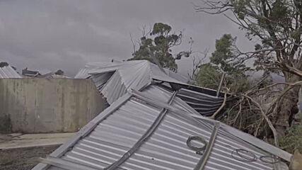 Australia: Cyclone Seroja tears through property in Gabbin