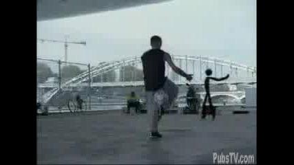 Ronaldinho Vs. The Stick Man