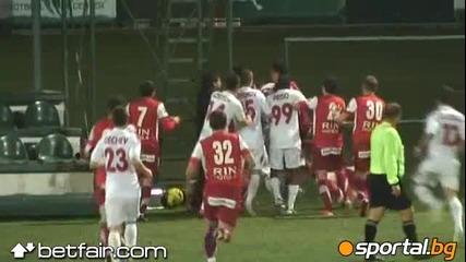 Platini mlati igrachi na Dinamo (bukuresht)