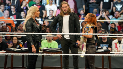 """Charlotte Flair attacks Becky Lynch on """"The Cutting Edge"""": SmackDown 1000, Oct. 16, 2018"""