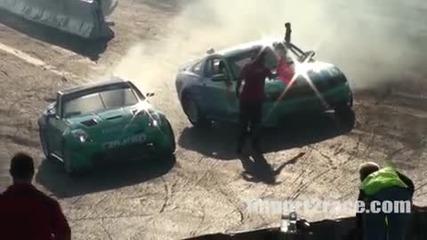 Team Falken 350z vs Mustang V8 Drift
