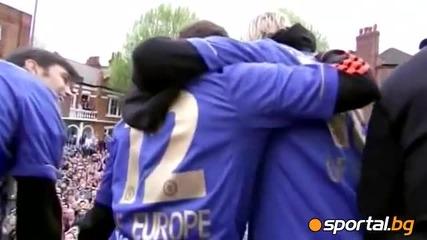 Челси показа трофея пред 100 000 в Лондон