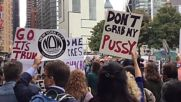"""USA: """"Don't grab my pussy"""" - victims of sexual assault protest outside Trump Towers"""
