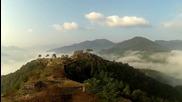 Въздушен оглед на крепостта Takeda Castle в Япония !