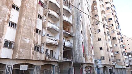 State of Palestine: Gaza City neighbourhood in ruins in aftermath of Israeli airstrikes