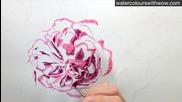 Рисуване на роза /урок от Anna Mason/