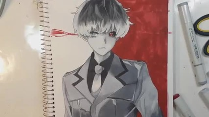 Рисуване Сасаки Хейз от Токио Ghoul-re