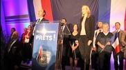 НФ празнува прогнозните резултати от изборите във Франция
