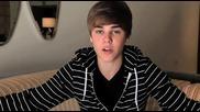 Justin Bieber ви моли да гласувате - Brits awards