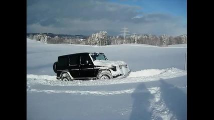 Mercedes G im Schnee