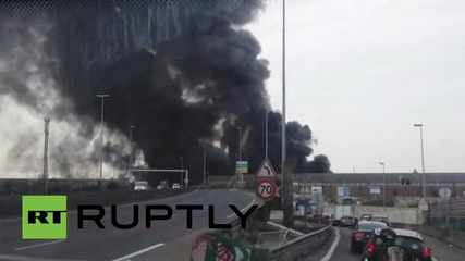 France: Smoke plumes fill Paris sky after warehouse blaze