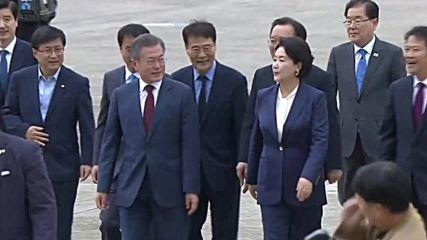 South Korea: Moon arrives in Seoul after North Korea trip