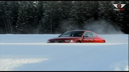 Audi Rs5 Snow Drift