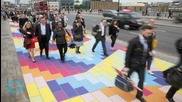 London Bridge Transformed Into Rainbow-brick Road for Gloomy Monday