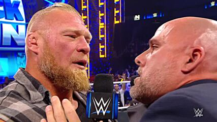 Adam Pearce suffers an F5 after indefinitely suspending Brock Lesnar: SmackDown, Oct. 22, 2021