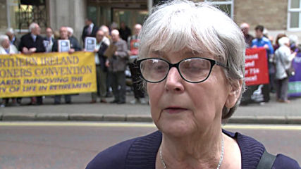 UK: Pensioners protest outside BBC office against scrapping of free TV licenses