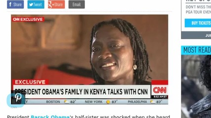 Barack Obama's Half-Sister 'Surprised' By His Singing Skills