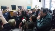Greece: 200 protesters enter courtroom to prevent housing auction