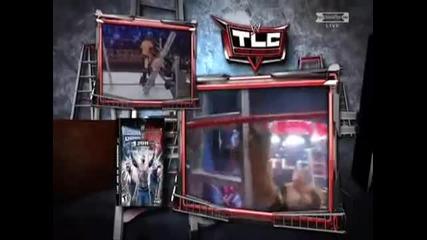 Rey Mysterio vs Alberto Del Rio vs Edge vs Kane Highlights (wwe Tlc 2010)