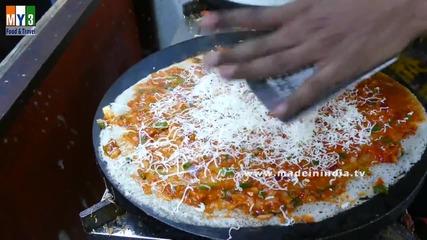 Бърза Храна на улицата в Мумбай - Mysore Cheese Masala Dosa- Rare Recipe
