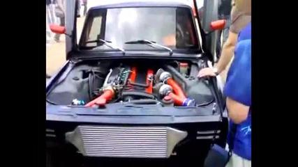 Ладата с двигател от Nissan Skyline снимки и в действие