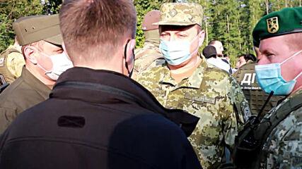 Ukraine/Belarus: Jewish pilgrims pitch tents waiting for Ukrainian border to open