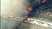 Motorists Flee Freeway Wildfire