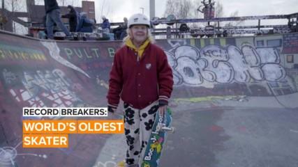 Lena the 'granny skater' is shocking, inspiring and badass