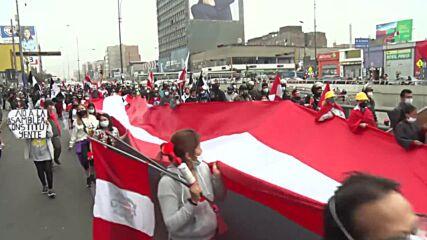 Peru: Hundreds protest against President Castillo's inauguration in Lima