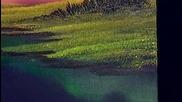 S06 Радостта на живописта с Bob Ross E13 - цветно пламтене finale ღобучение в рисуване, живописღ