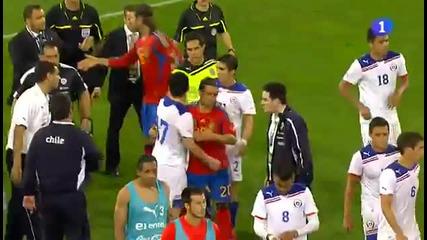 Играчи на Барса и Реал бият Чилийци