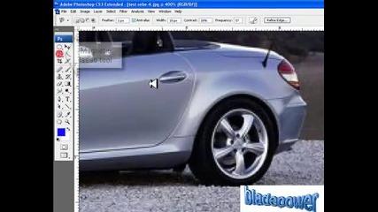 как да сменим цвеtа на джантите на кола с Photoshop